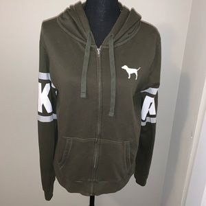 Hoodie army green Pink by VS size Medium
